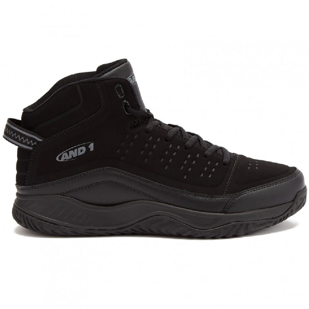 AND1 | MENS PULSE 2.0 MID BLACK NUBUCK