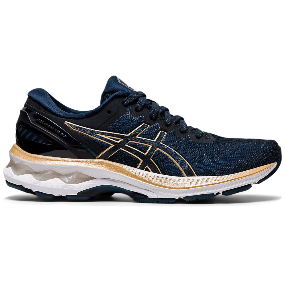 ASICS | WOMENS GEL-KAYANO 27 (FRENCH BLUE/CHAMPAGNE)
