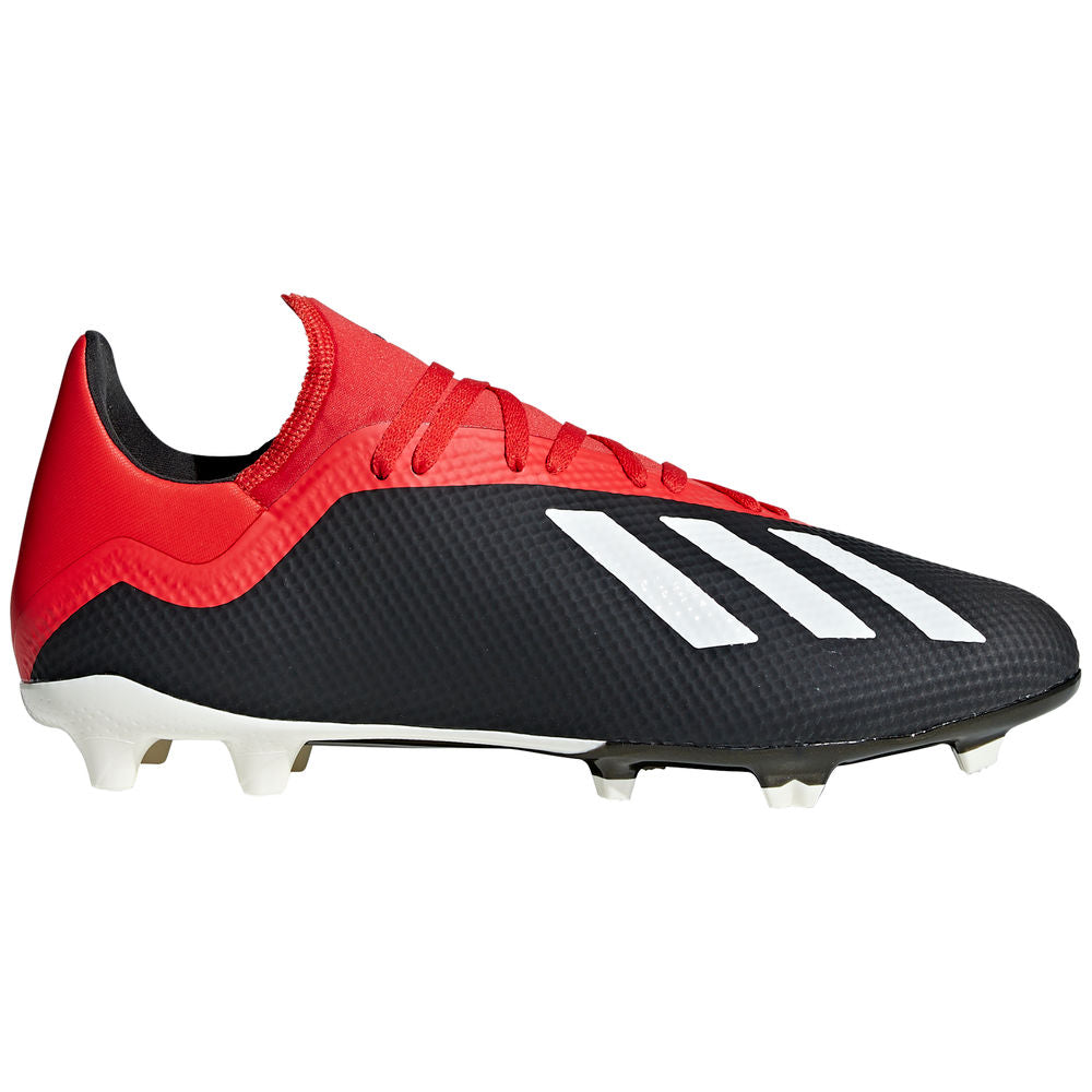 ADIDAS | MENS X 18.3 FG BLACK/RED/WHITE