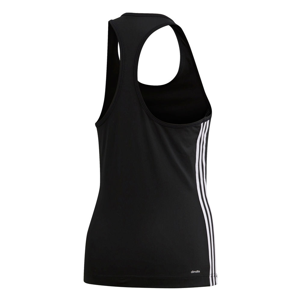 ADIDAS | WOMENS DESIGNED 2 MOVE TANK 3-STRIPES BLACK/WHITE