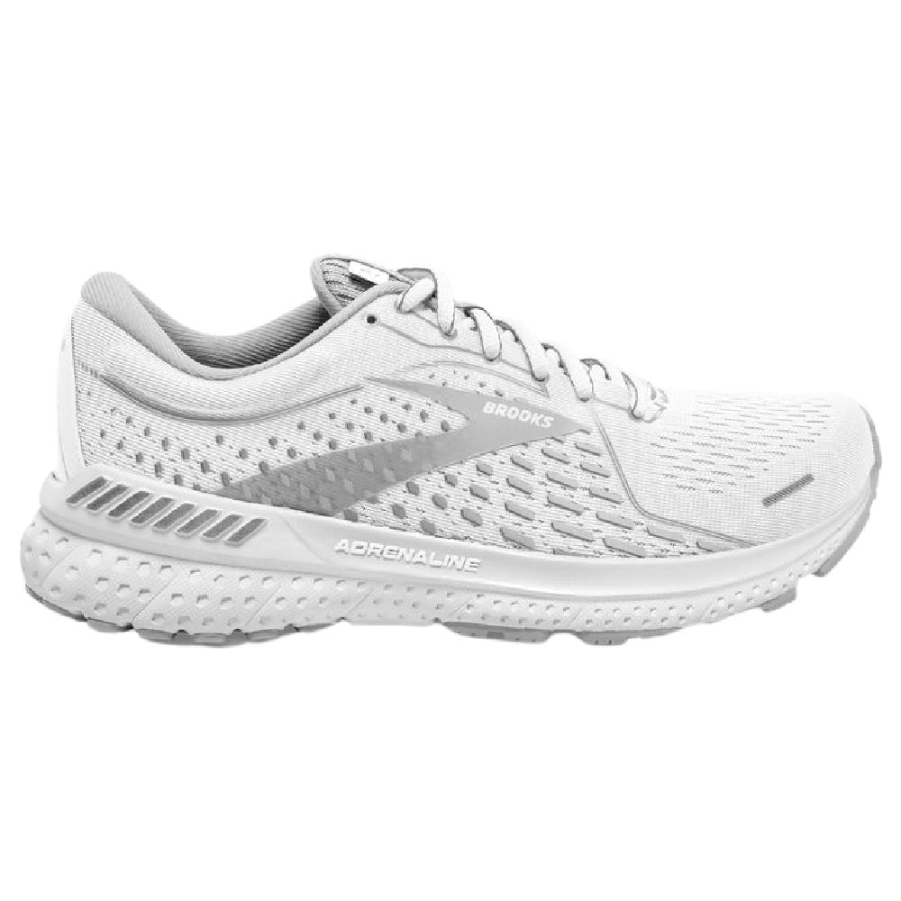 BROOKS | MENS ADRENALINE GTS 21 WHITE/GREY