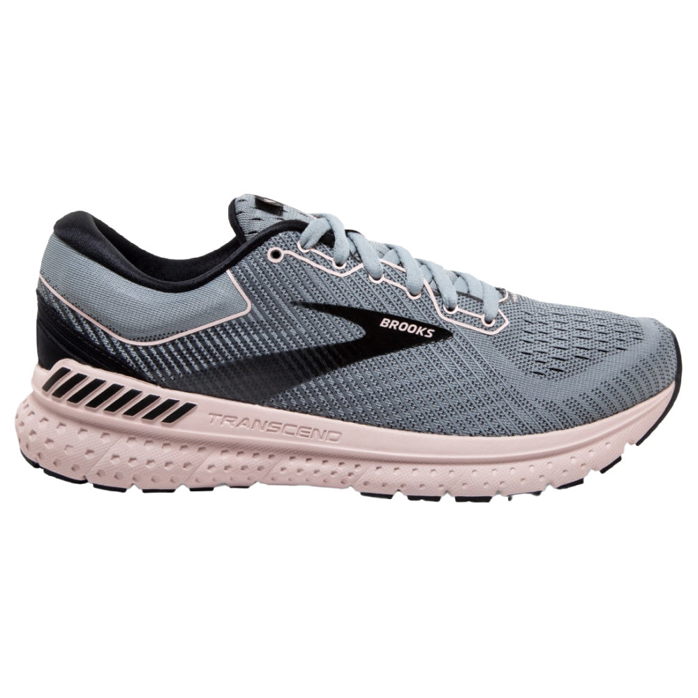 BROOKS | WOMENS TRANSCEND 7 GREY/PINK