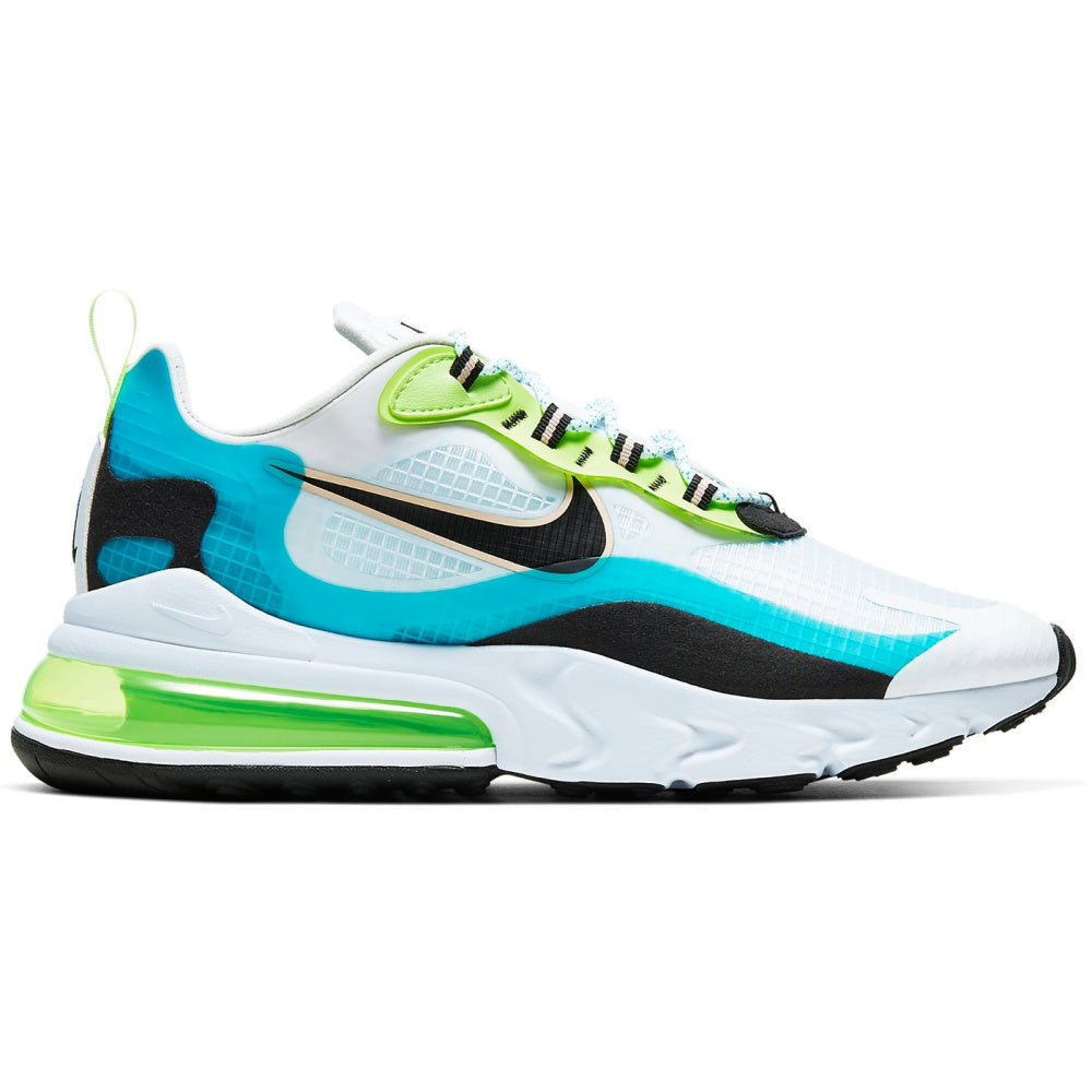 NIKE | MENS AIR MAX 270 REACT SE (ORACLE AQUA.BLACK GHOST GREEN)