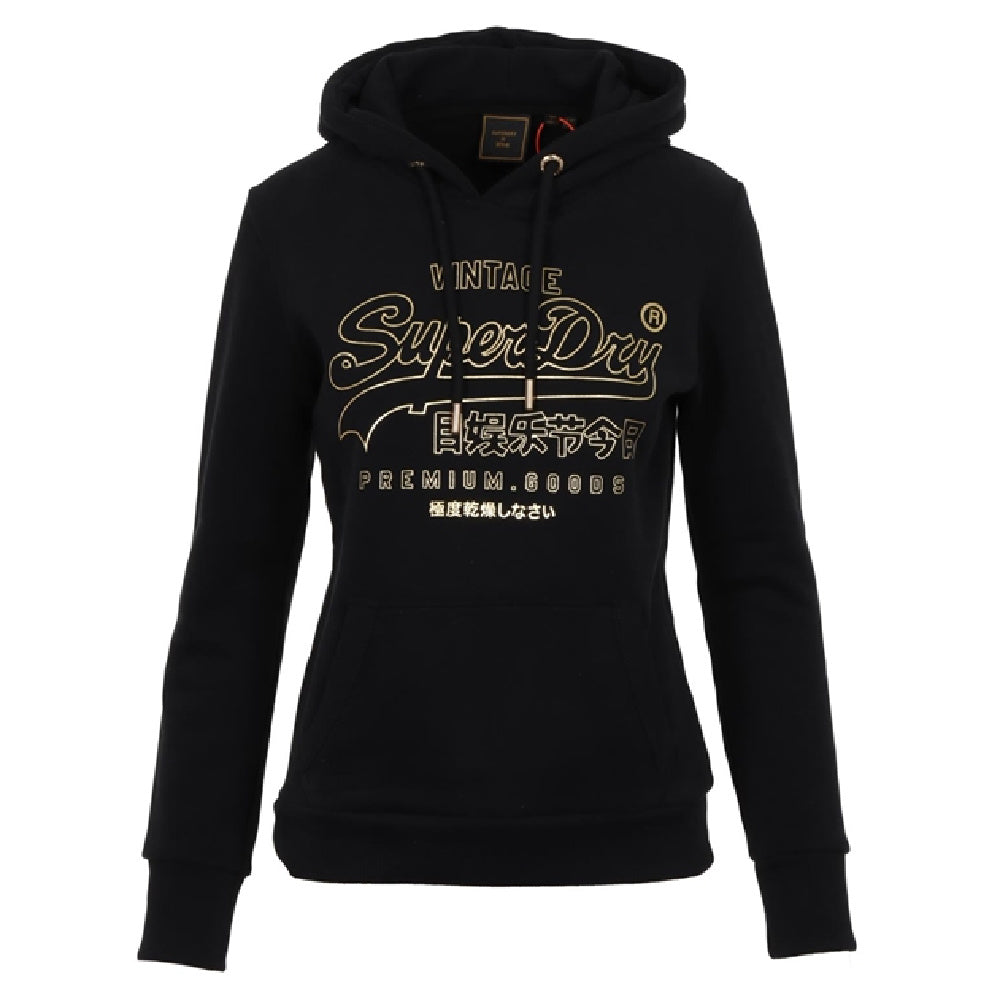 SUPERDRY | WOMENS VL LUSTER HOOD BR BLACK