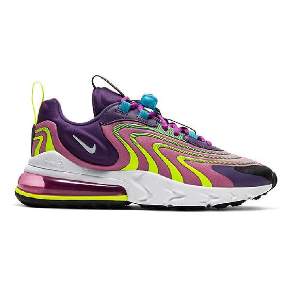 NIKE | WOMENS AIR MAX 270 REACT (EGGPLANT/YELLOW)