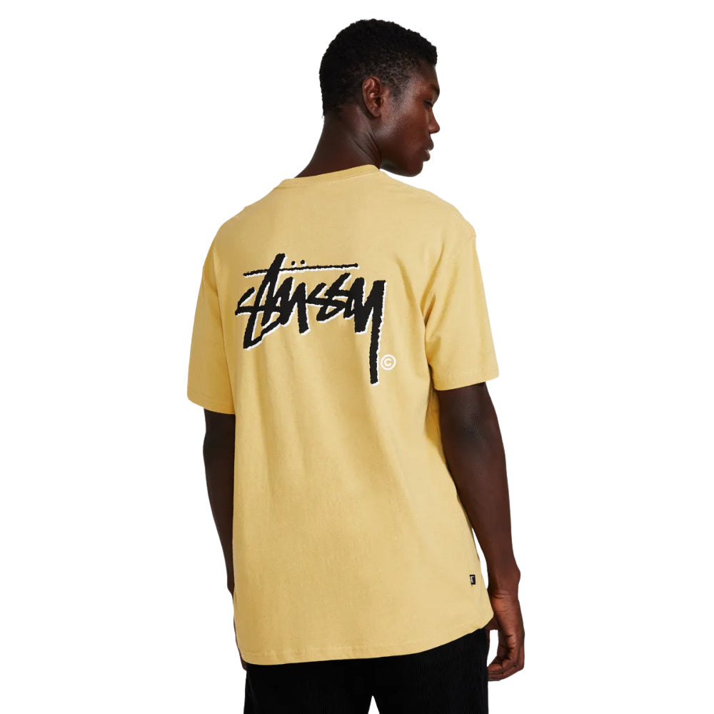 STUSSY | MENS SHADOW STOCK TEE (BUTTER)
