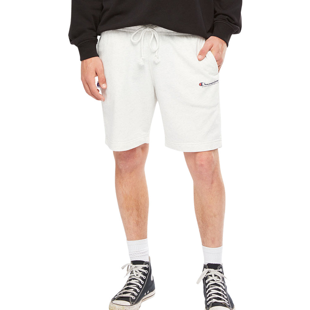 CHAMPION | MENS FRENCH TERRY SCRIPT SHORT LIGHT SNOW MARLE