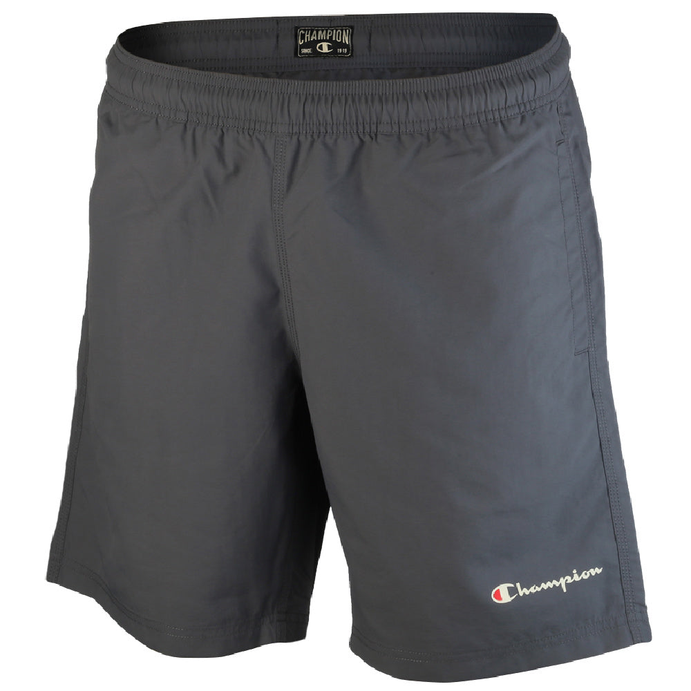 CHAMPION | MENS SCRIPT BEACH SHORT GREY
