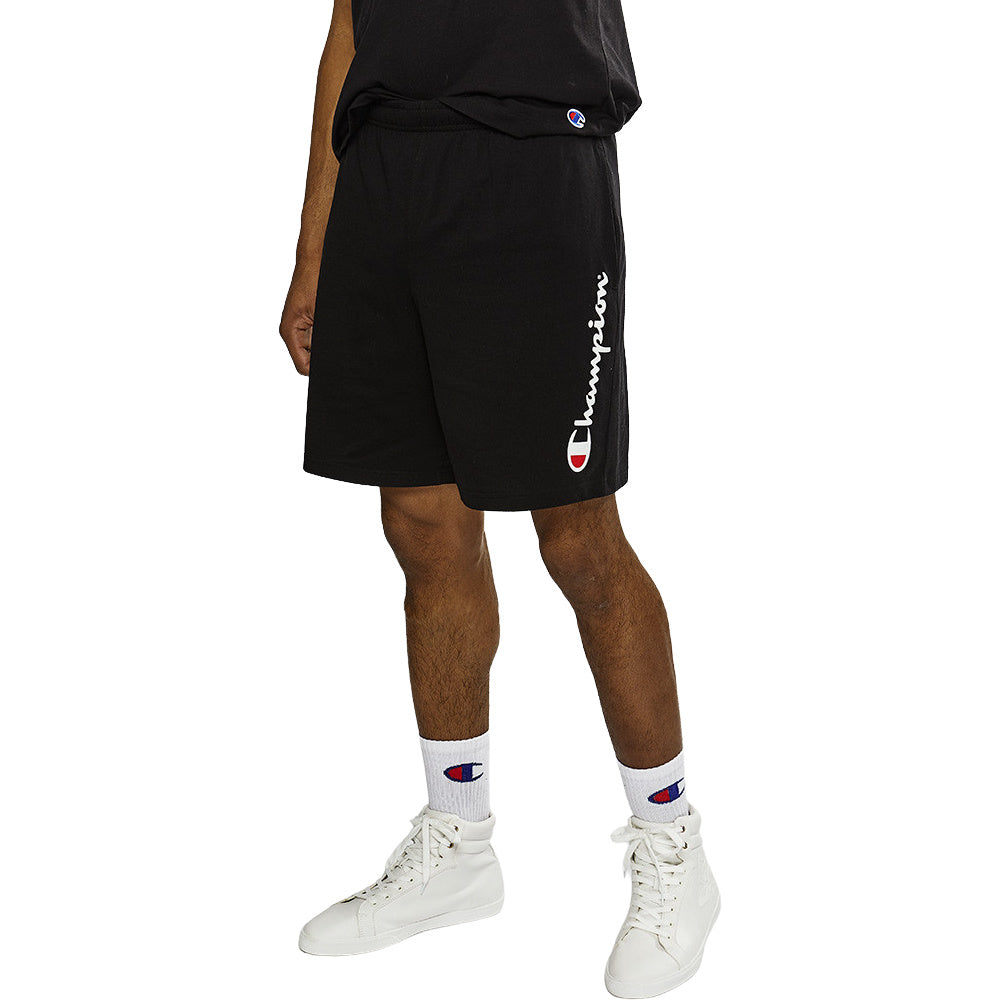CHAMPION | MENS SCRIPT JERSEY SHORT BLACK