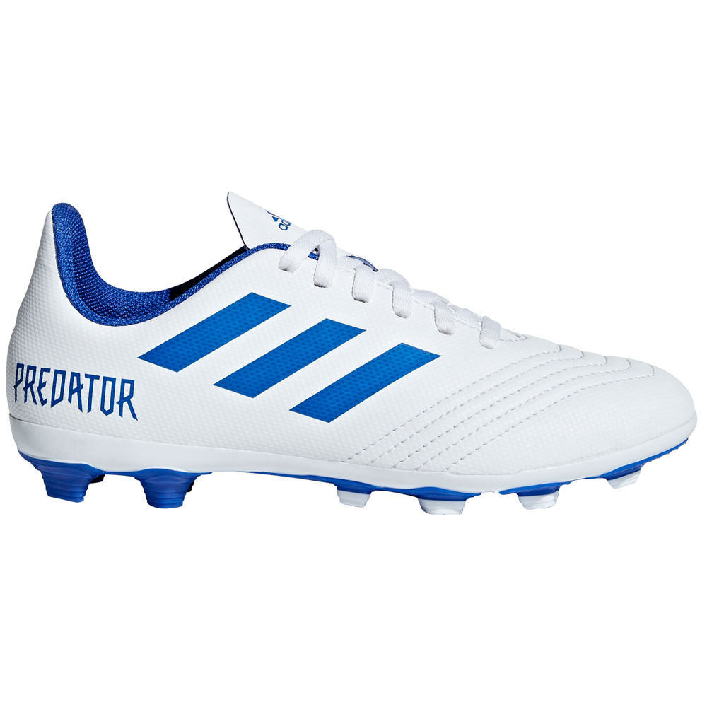ADIDAS | KIDS PREDATOR 19.4 FXG WHITE/BLUE