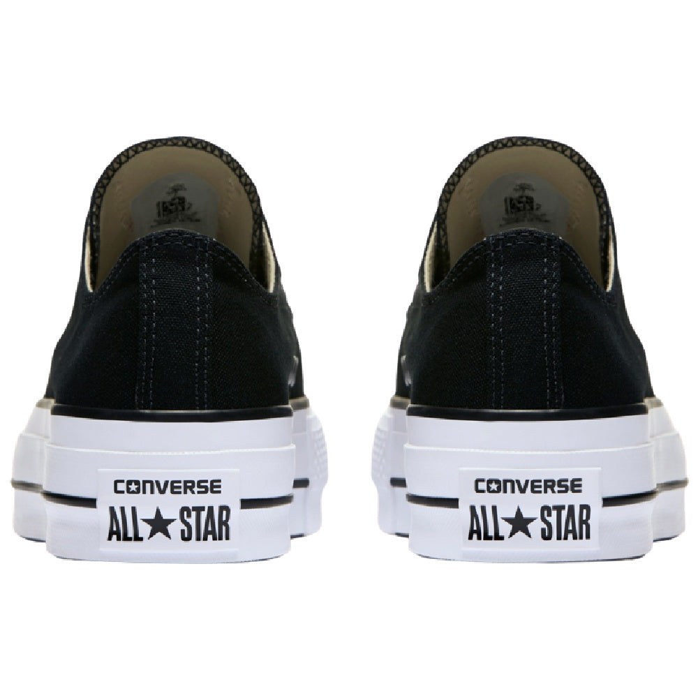 CONVERSE | WOMENS CT ALL STAR CANVAS LIFT LOW-TOP (BLACK/WHITE)