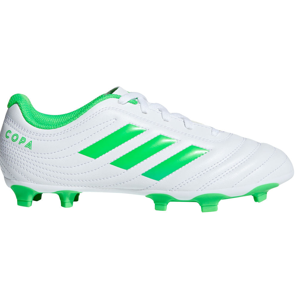 ADIDAS | KIDS COPA 19.4 FG J WHITE/LIME GREEN
