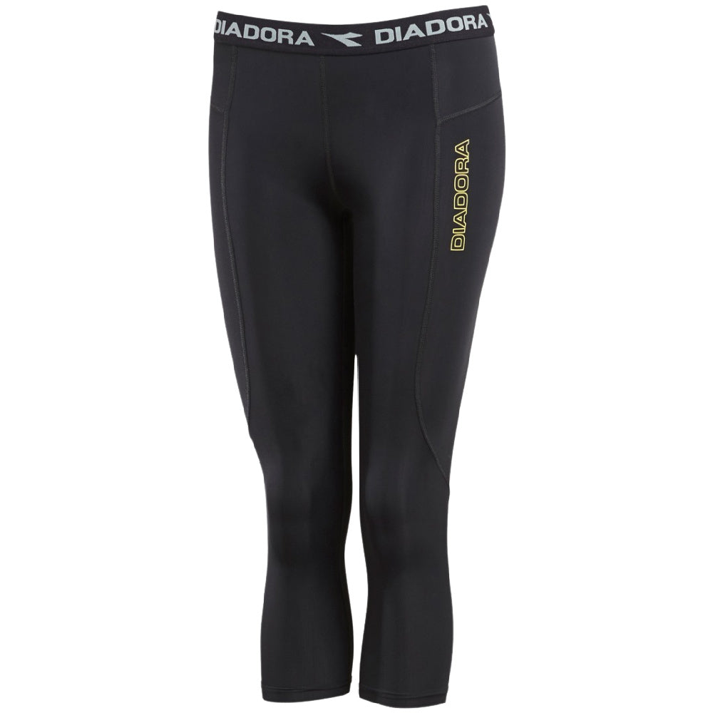 DIADORA | WOMENS COMPRESSION 3/4 TIGHT BLACK