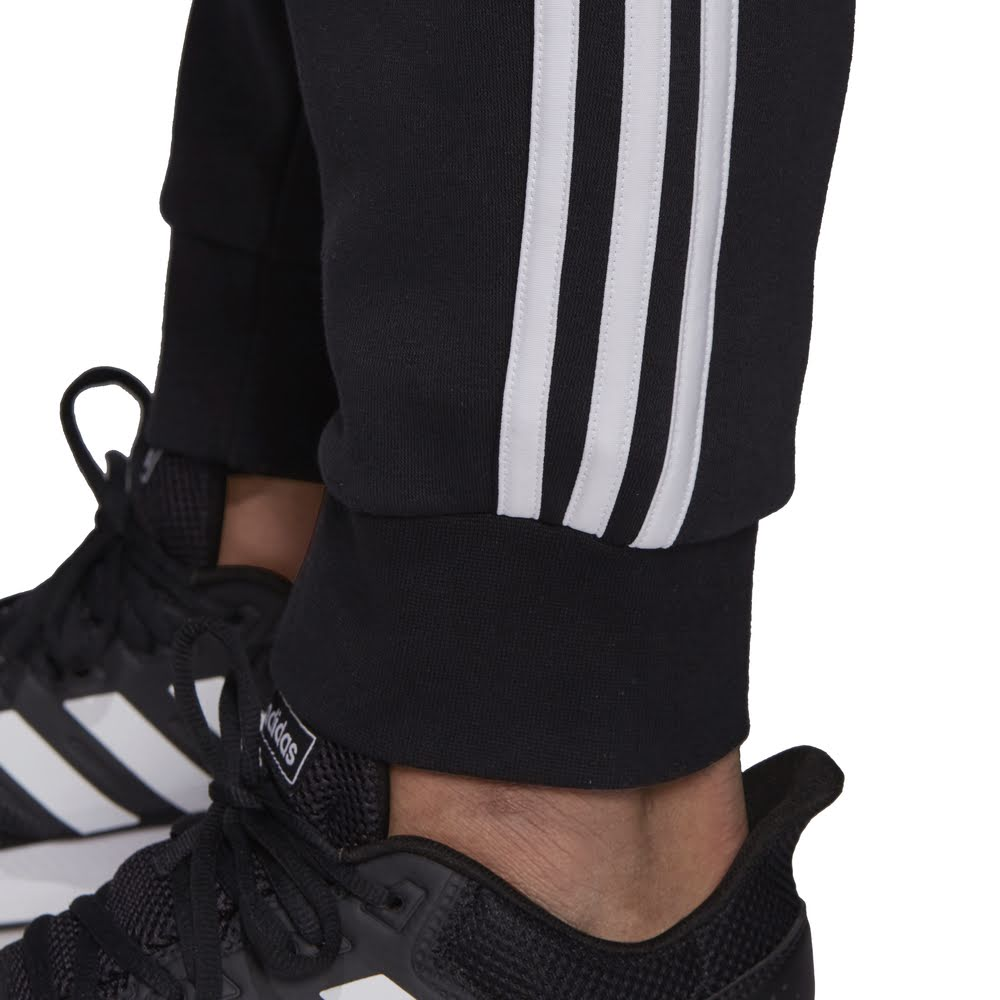 ADIDAS | MENS ESSENTIAL 3-STRIPES TAPERED CUFFED PANT BLACK/WHITE