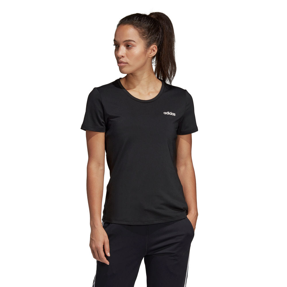 ADIDAS | WOMENS DESIGN 2 MOVE SOLID TEE BLACK