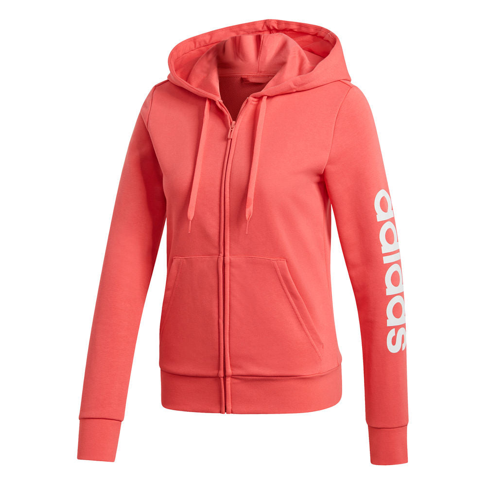 ADIDAS | WOMENS ESSENTIALS LINEAR HOODIE PINK