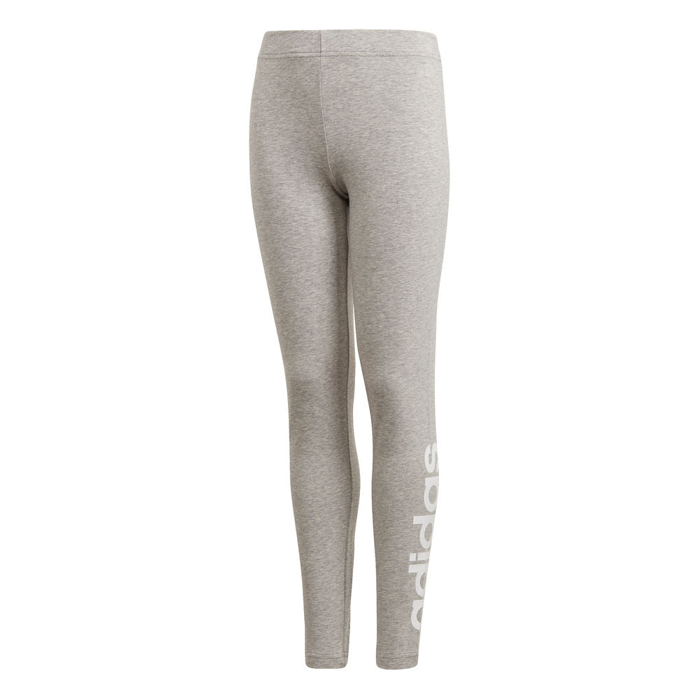 ADIDAS | YOUTH GIRLS ESSENTIALS LINEAR TIGHT GREY/WHITE