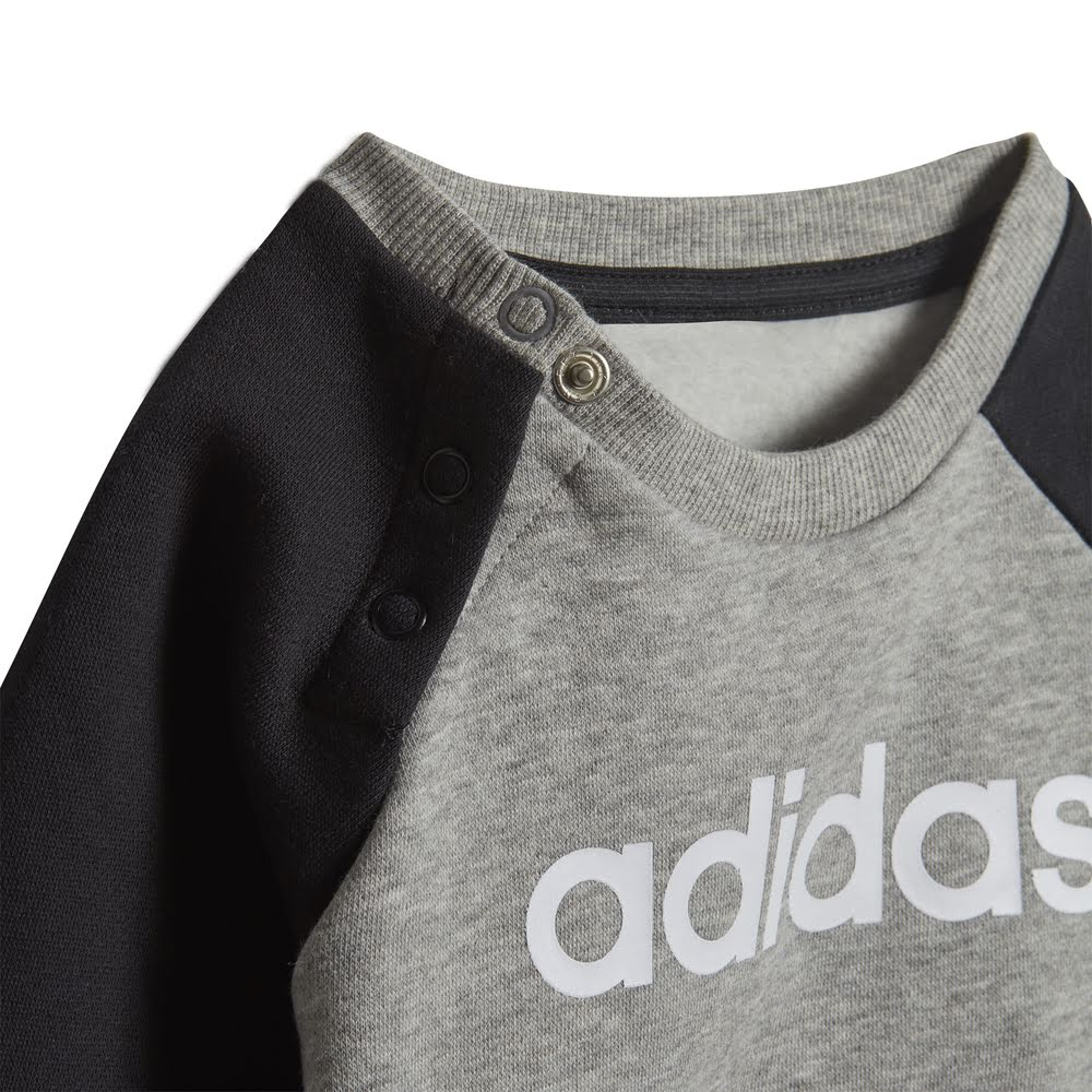 ADIDAS | INFANTS LINEAR FLEECE JOGGER SET GREY/BLACK