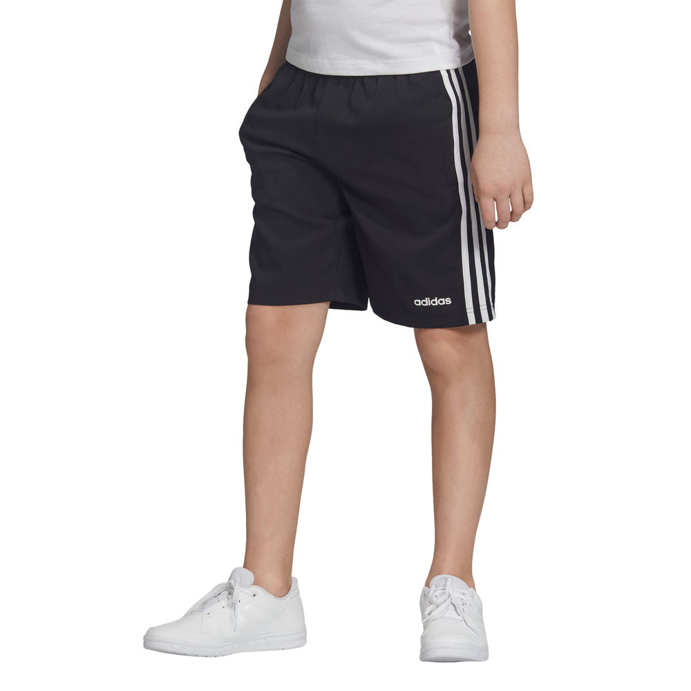 ADIDAS | YOUTH BOYS ESSENTIALS 3-STRIPES WOVEN SHORT BLACK/WHITE