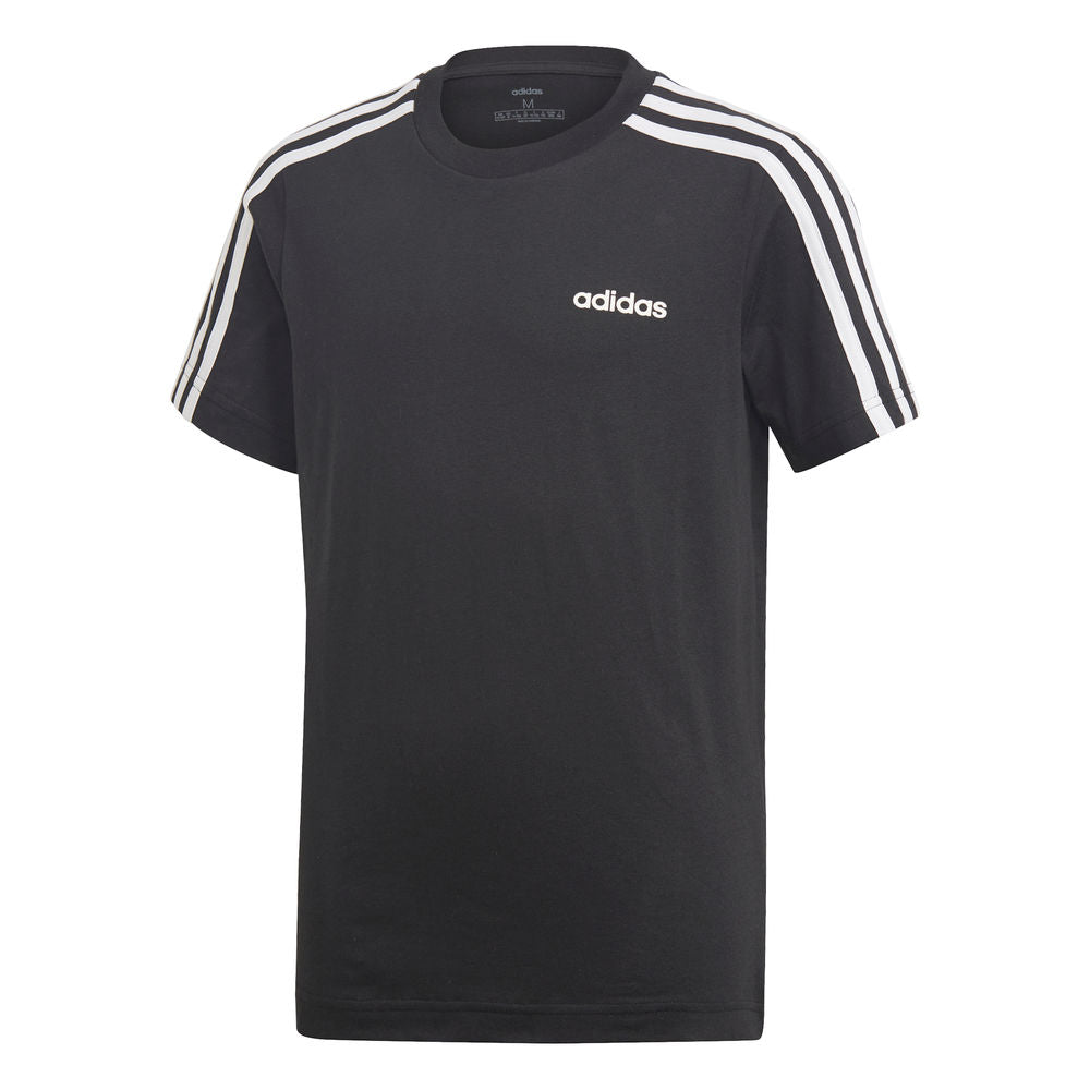 ADIDAS | YOUTH BOYS ESSENTIALS 3-STRIPES TEE BLACK/WHITE