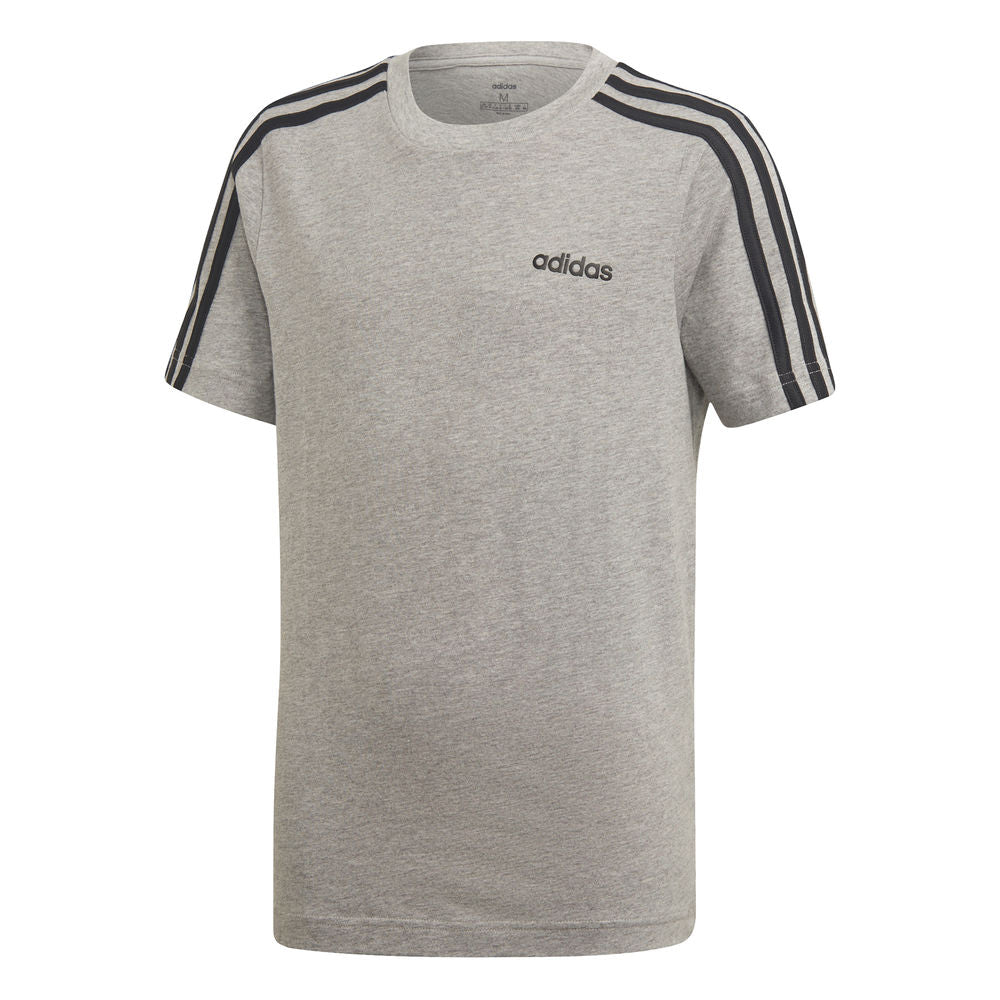 ADIDAS | YOUTH BOYS ESSENTIALS 3-STRIPES TEE GREY/BLACK