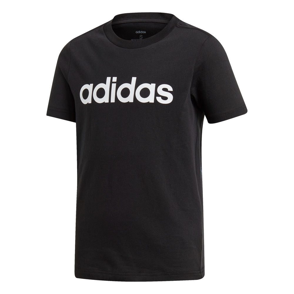 ADIDAS | YOUTH BOYS ESSENTIALS LINEAR TEE BLACK/WHITE