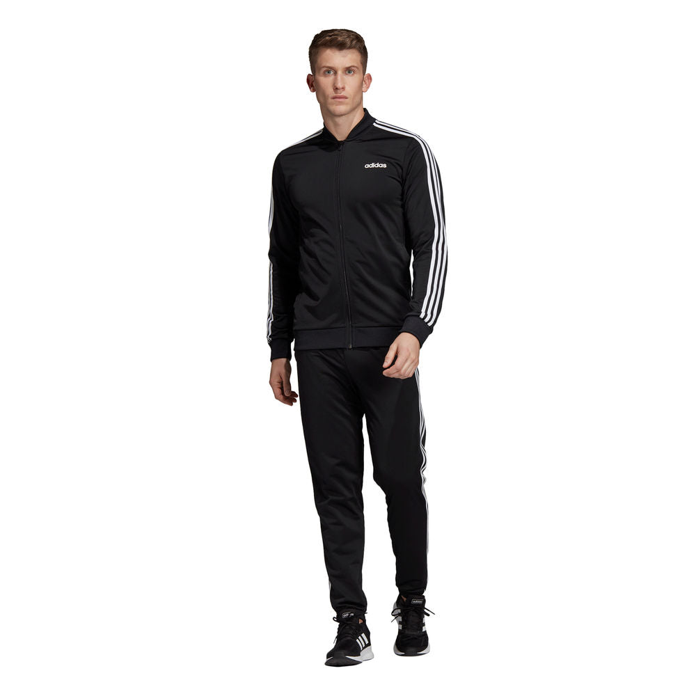 ADIDAS | MENS 3-STRIPES TRACK SUIT BLK/WHT