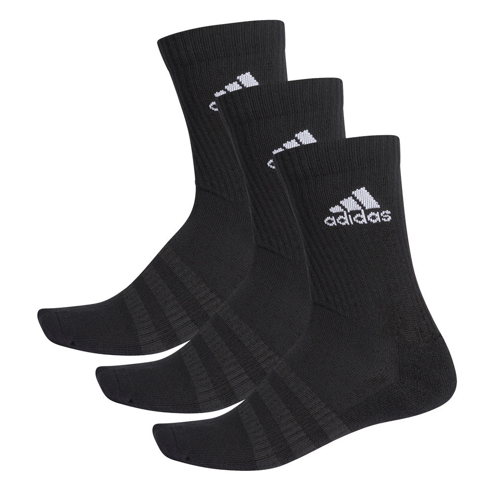 ADIDAS | UNISEX CUSHIONED CREW SOCKS 3PK BLACK