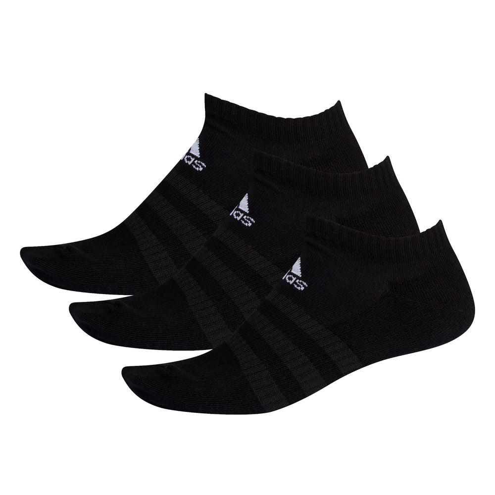 ADIDAS | CUSHIONED LOW-CUT 3PK SOCKS BLACK