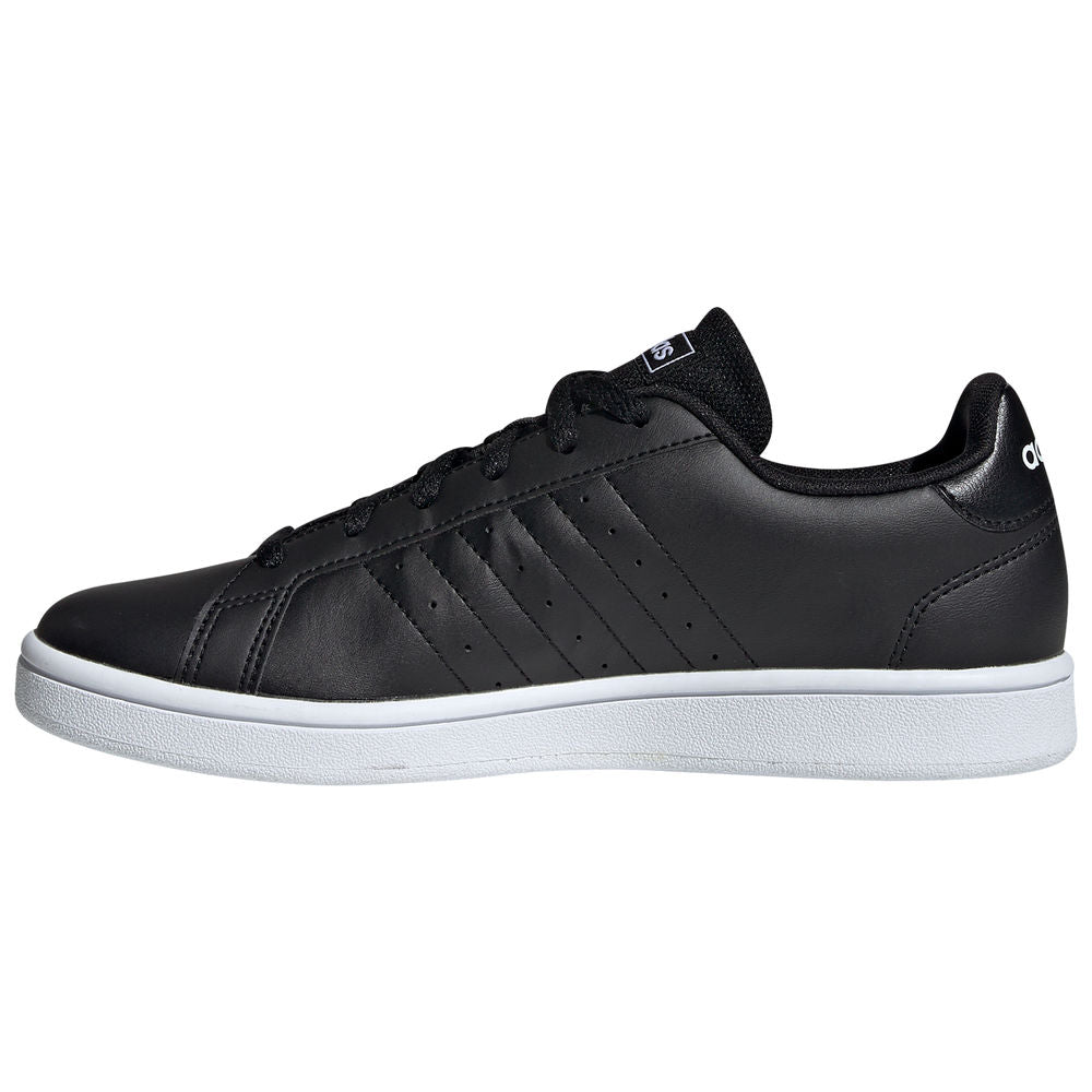 ADIDAS | WOMENS GRAND COURT BASE BLACK/WHITE