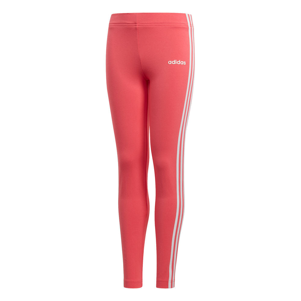 ADIDAS | YOUTH GIRLS ESSENTIALS 3-STRIPES LEGGINGS PINK/WHITE