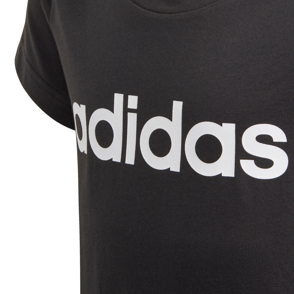 ADIDAS | YOUTH GIRLS ESSENTIALS LINEAR TEE BLACK/WHITE