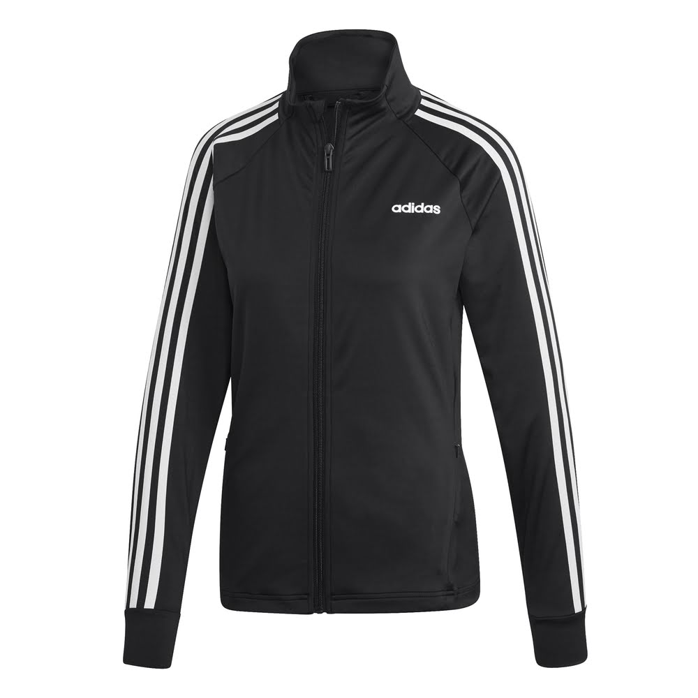 ADIDAS | WOMENS D2M 3-STRIPE TRACK JACKET BLACK/WHITE