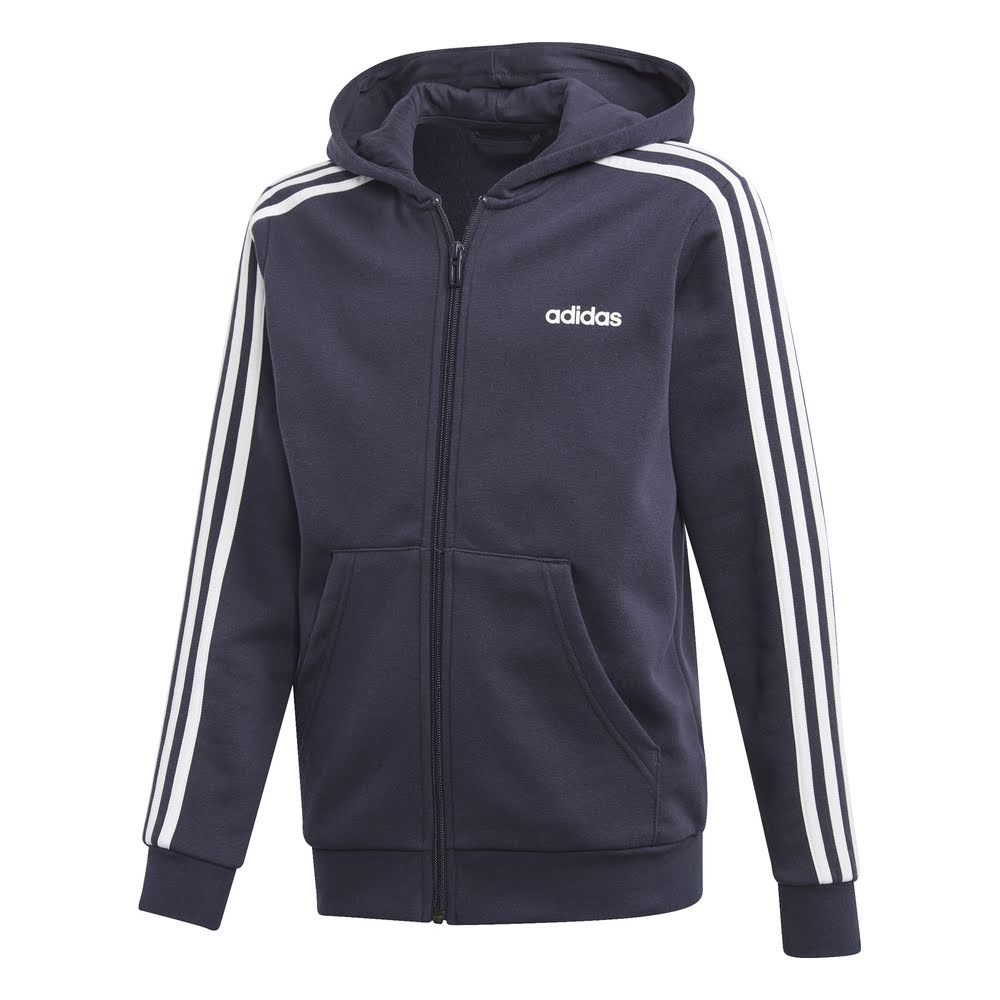 ADIDAS | YOUTH BOYS ESSENTIALS 3-STRIPES ZIP HOODIE NAVY/WHITE