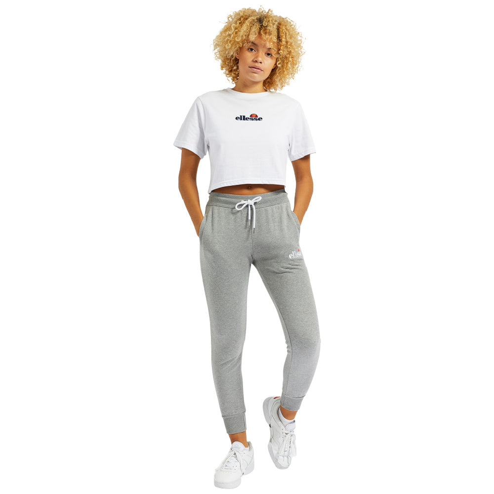 ELLESSE | WOMENS FIREBALL CROP TEE WHITE