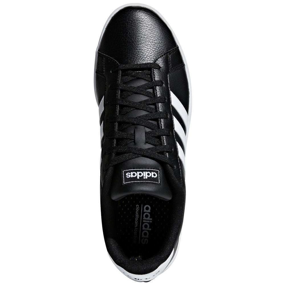 ADIDAS | MENS GRAND COURT BLACK/WHITE