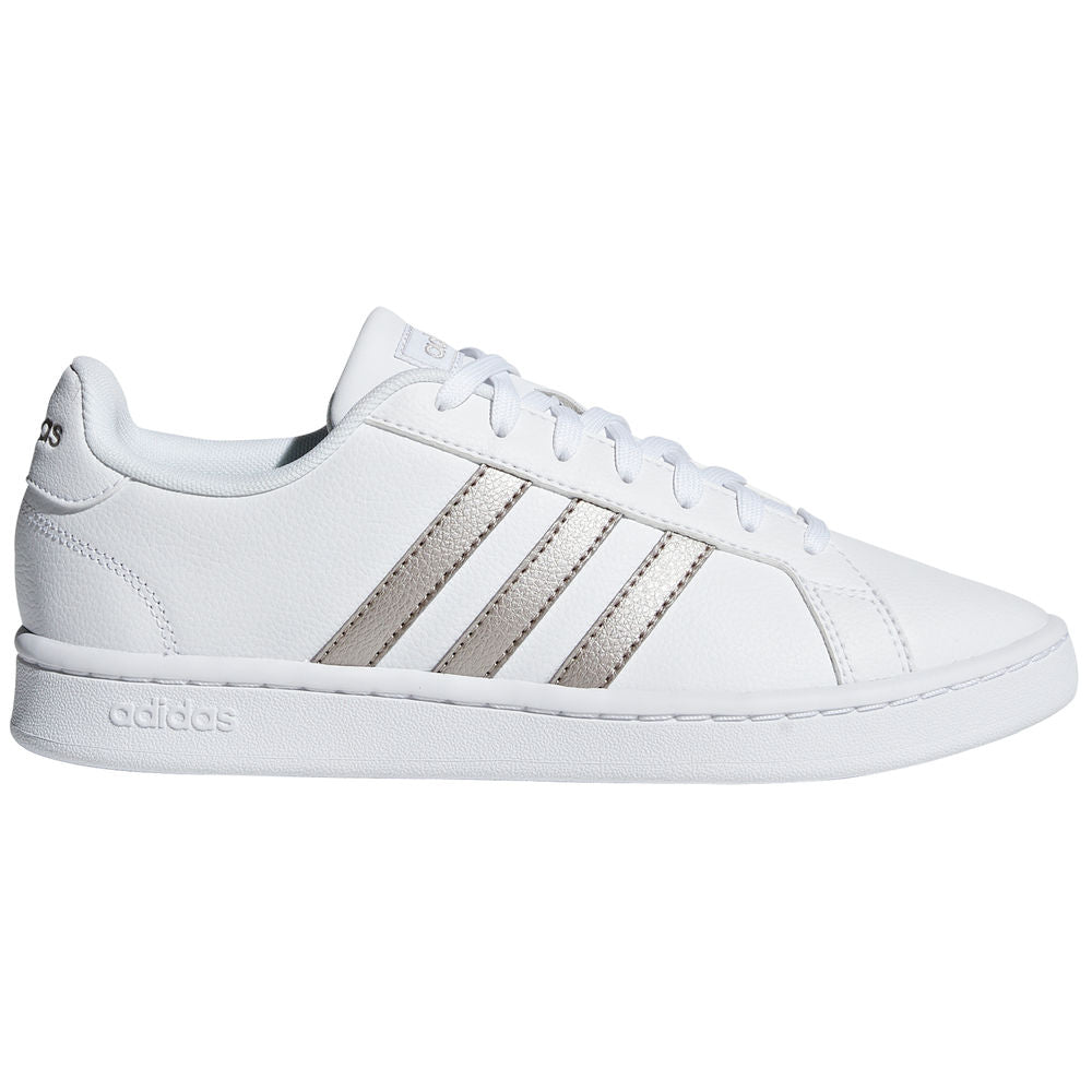 ADIDAS | WOMENS GRAND COURT WHITE/GOLD