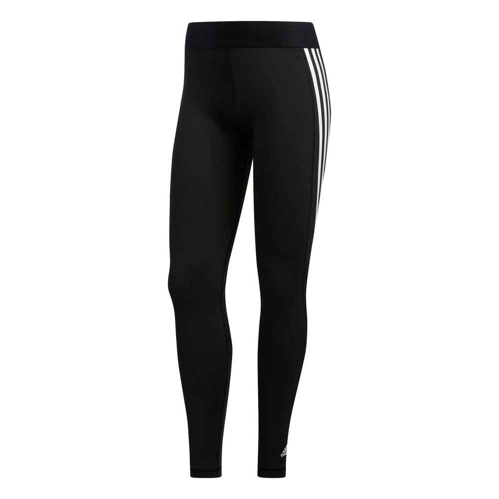 ADIDAS | WOMENS ALPHASKIN 3-STRIPES LONG TIGHTS BLACK/WHITE