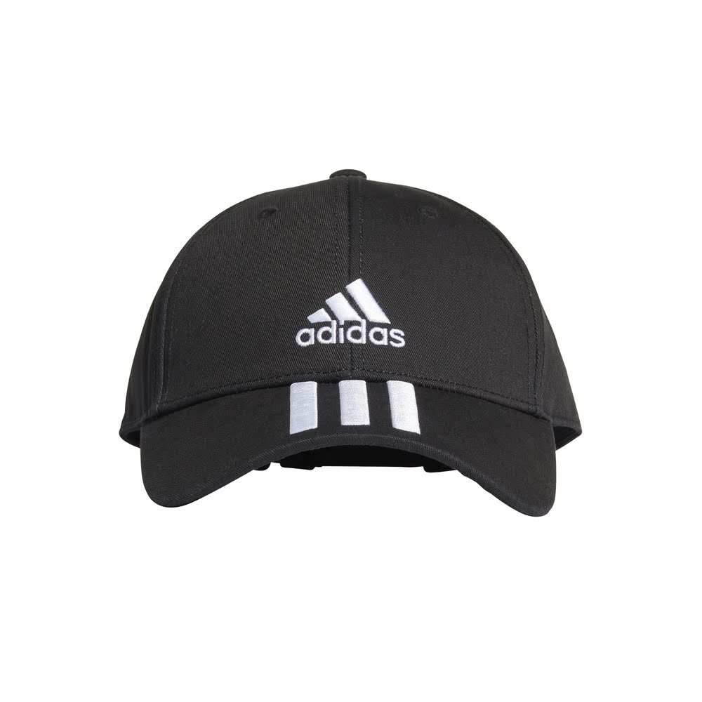 ADIDAS | BASEBALL 3-STRIPES CAP BLACK/WHITE