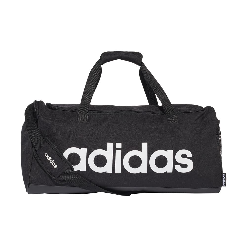ADIDAS | LINEAR DUFFLE BAG MEDIUM (BLACK/WHITE)
