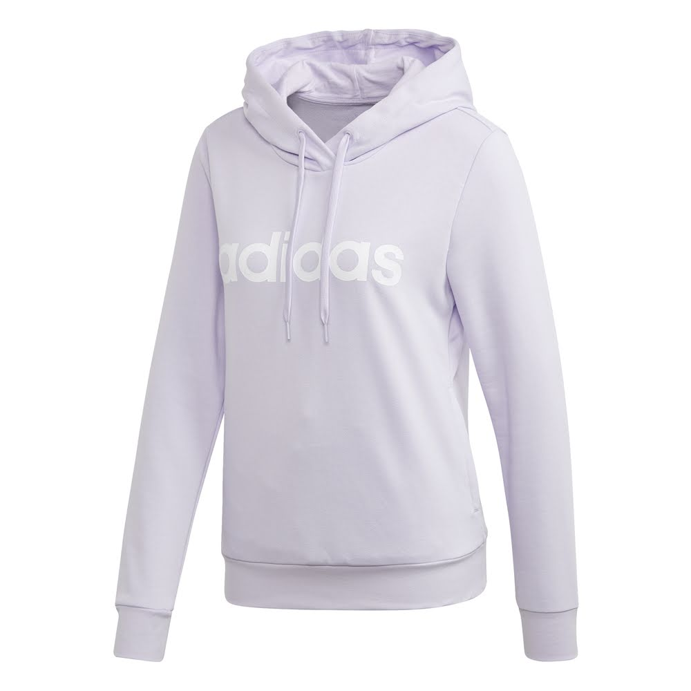 ADIDAS | WOMENS ESSENTIAL LINEAR PULLOVER HOODIE PURPLE/WHITE