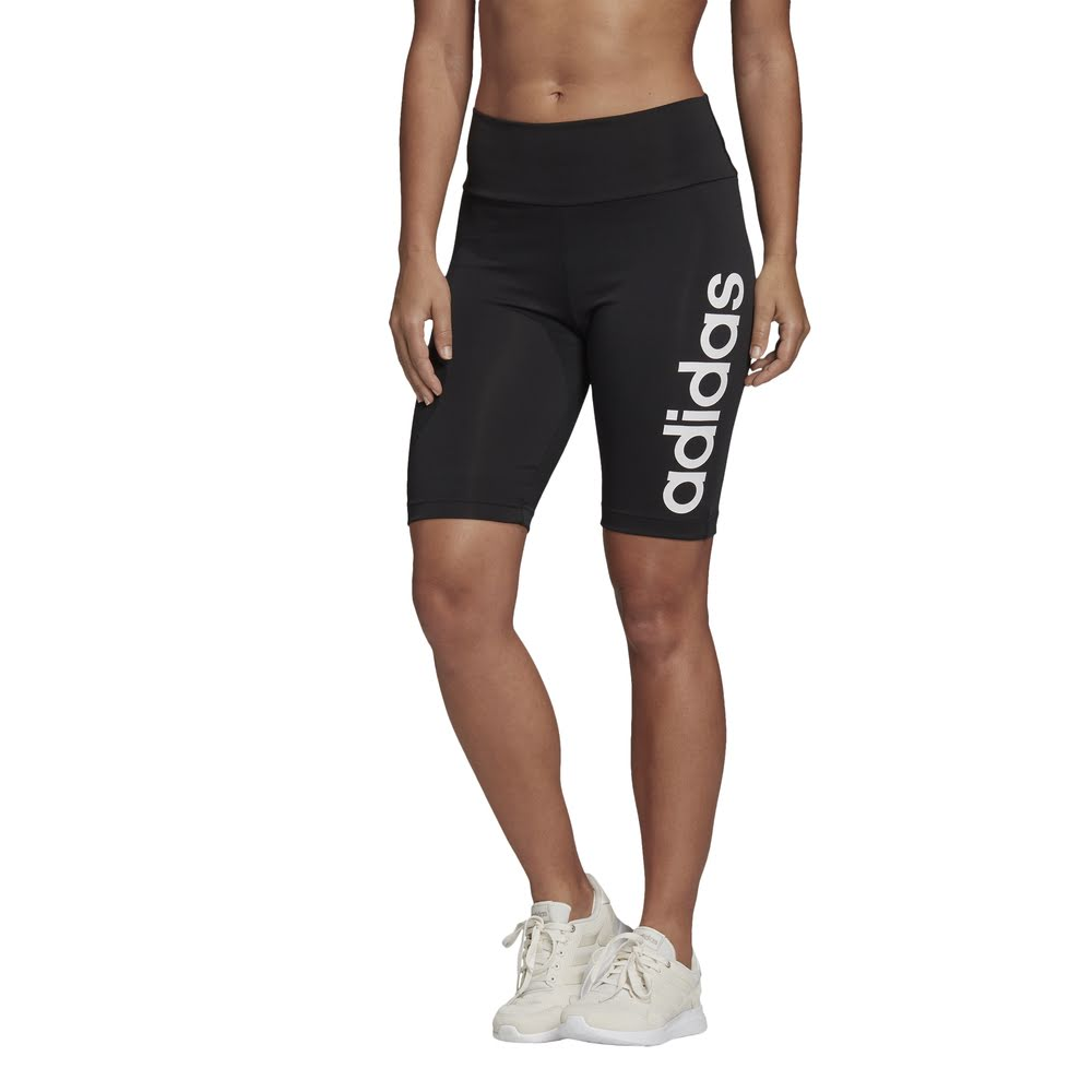 ADIDAS | WOMENS DESIGN 2 MOVE SHORT TIGHT BLACK/WHITE