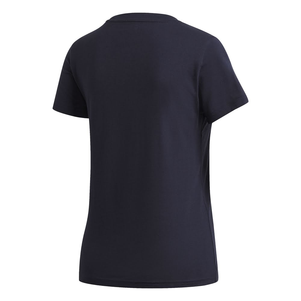 ADIDAS | WOMENS ESSENTIALS LINEAR SLIM TEE NAVY/PINK