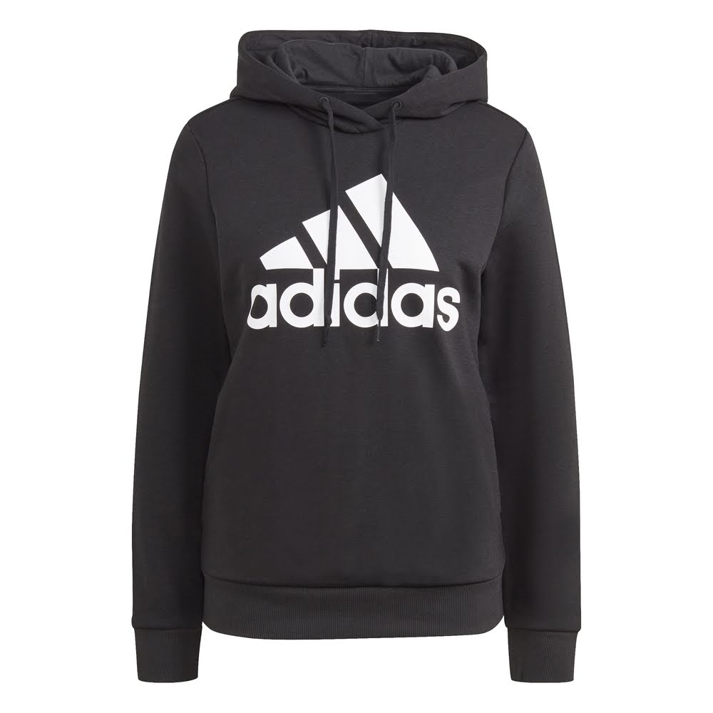 ADIDAS | WOMENS BIG LOGO FLEECE HOODIE (BLACK)