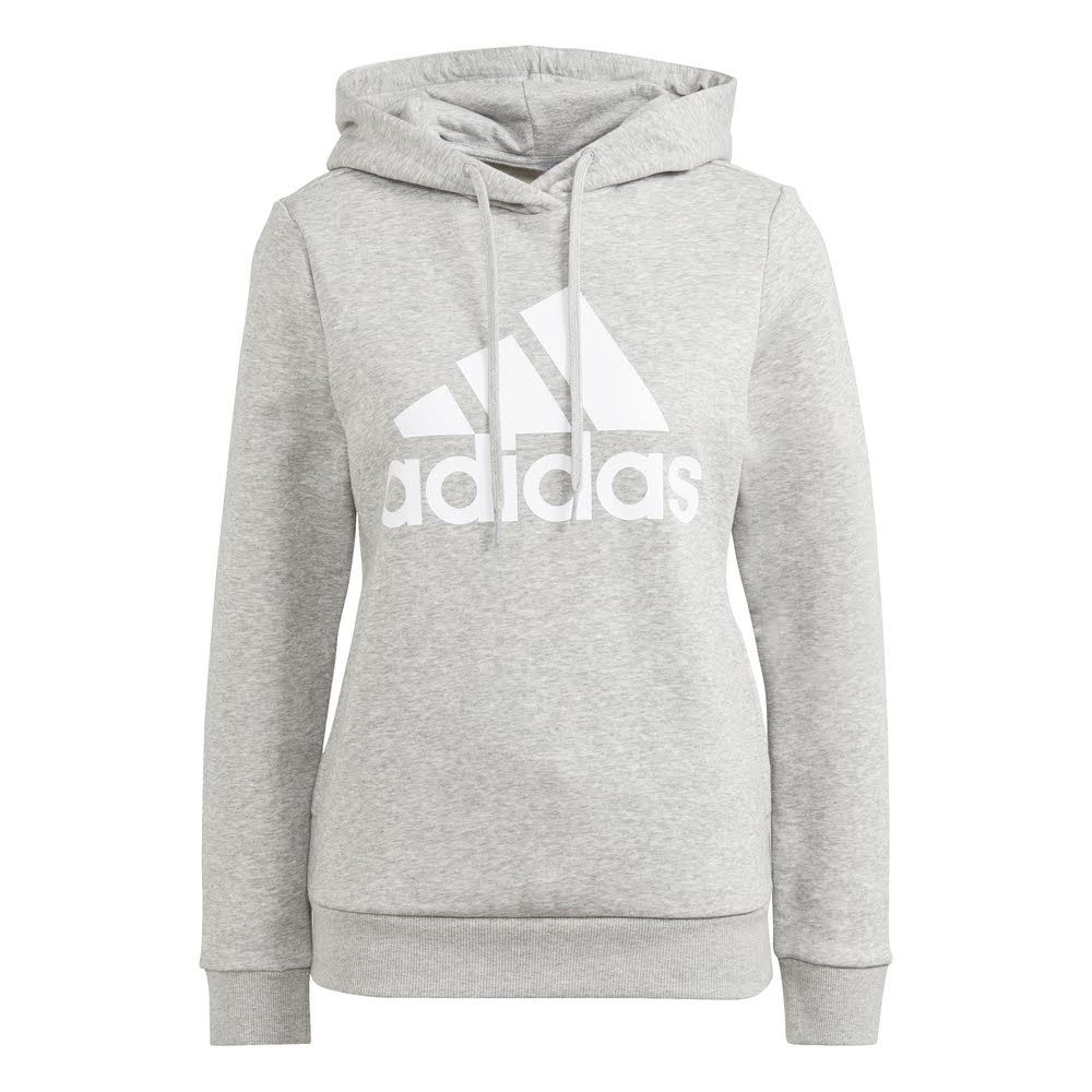 ADIDAS | WOMENS BIG LOGO FLEECE HOODIE (GREY)