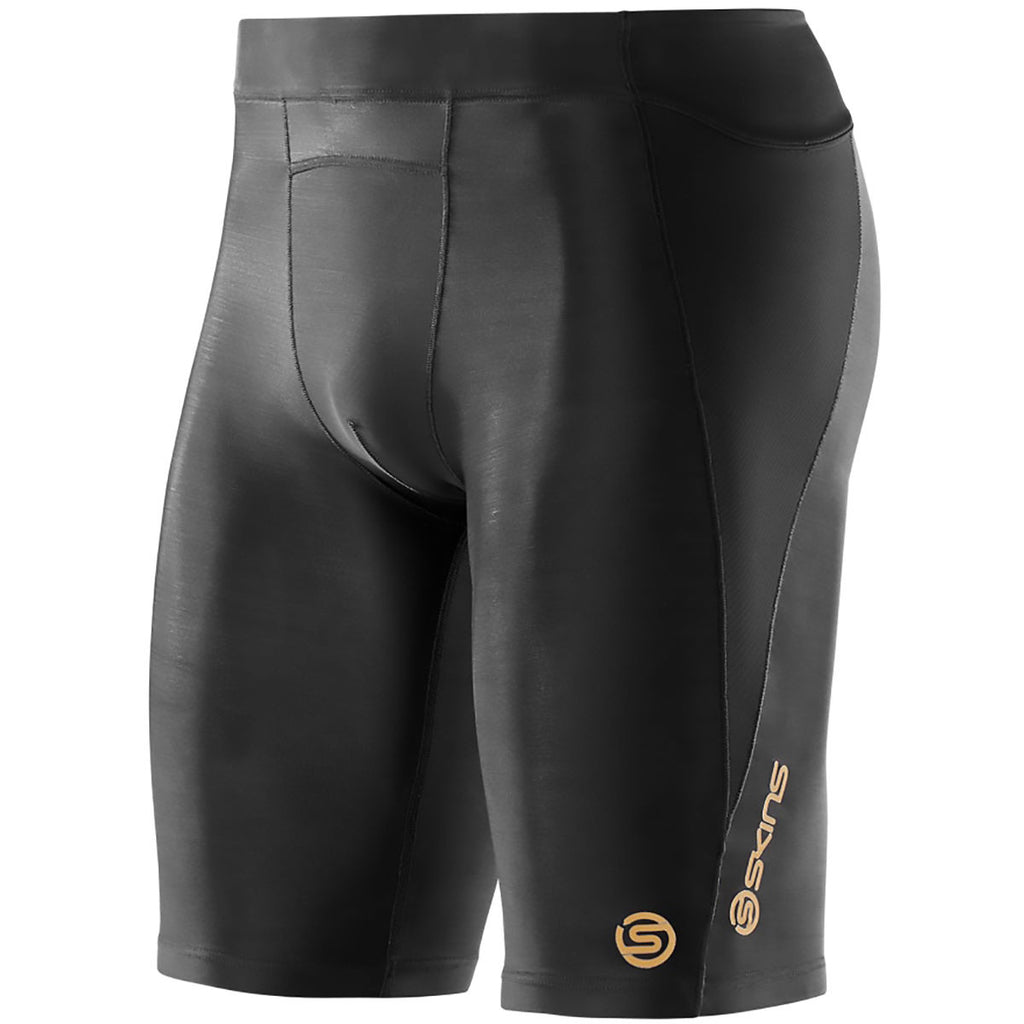 SKINS | MENS A400 HALF TIGHTS (BLACK)