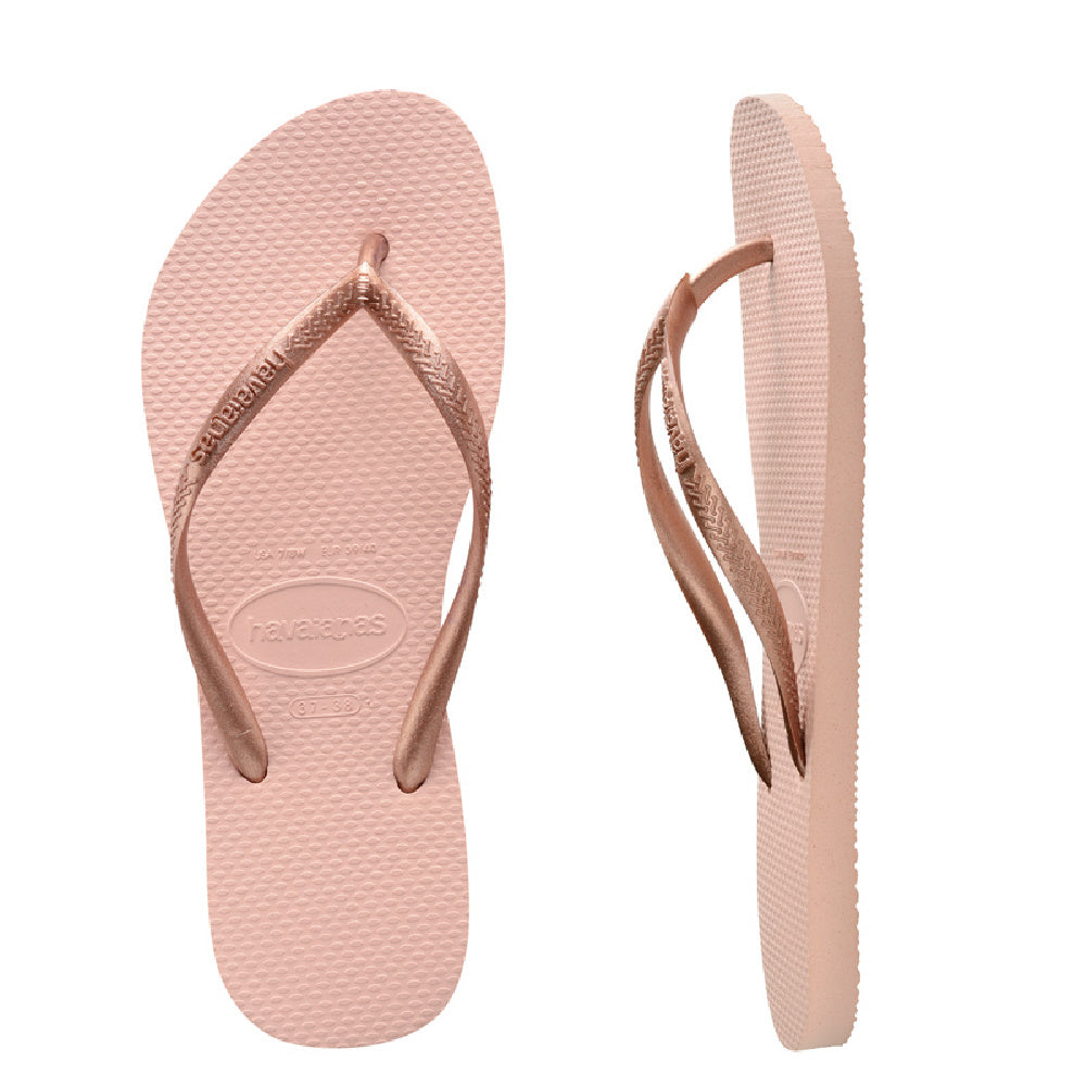 HAVAIANAS | TODDLER SLIM METALLIC BALLET ROSE