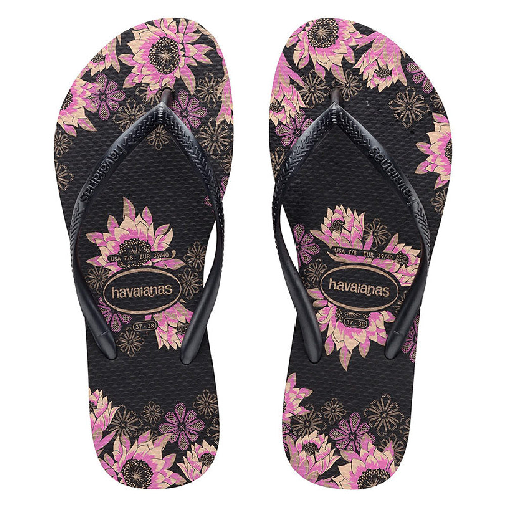 HAVAIANAS | WOMENS SLIM ORGANIC BLACK ROSE GOLD