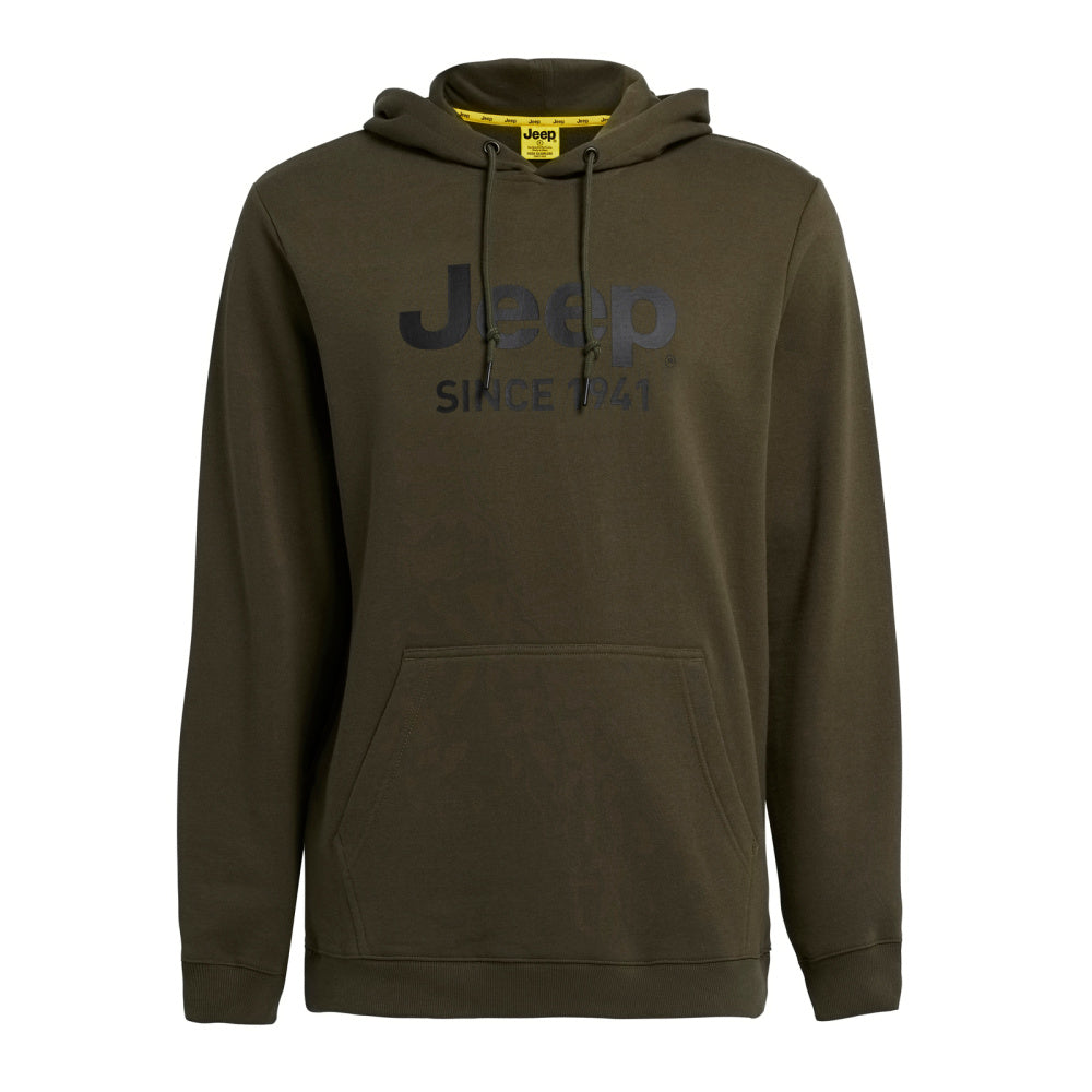 JEEP | MENS JEEP CORE LOGO HOODIE MILITARY GREEN