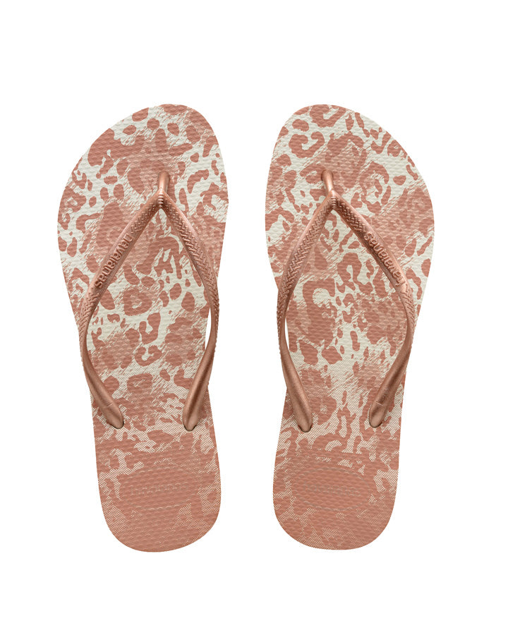 HAVAIANAS | KIDS SLIM ANIMALS (WHITE/GOLDEN BLUSH)